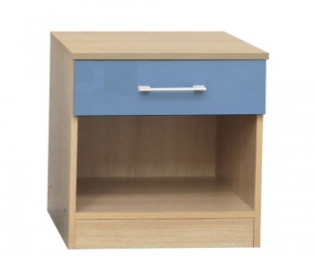 Casey Blue High Gloss Bedside Table *Special Offer*