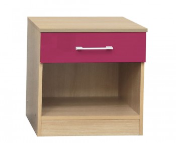 Casey Pink High Gloss Bedside Table *Special Offer*