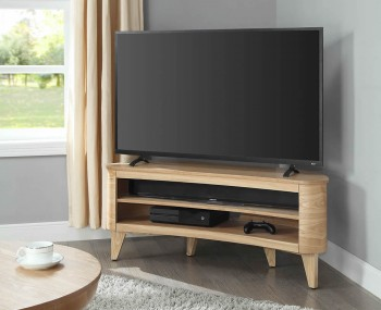 Zennor Ash Acoustic Curve TV Stand