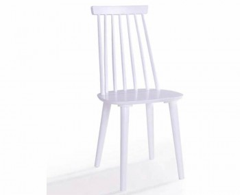 Riata White Wooden Spindle Dining Chairs
