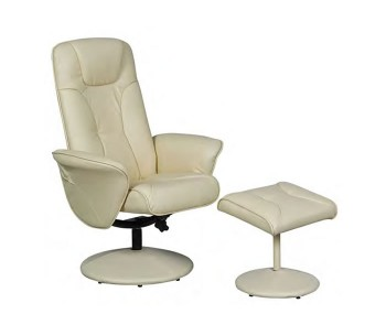 Mayhill Faux Leather Swivel Chair & Stool *Special Offer*