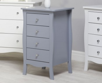 Parise Grey 4 Drawer Narrow Chest