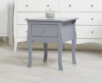 Parise Grey 1 Drawer Bedside Table