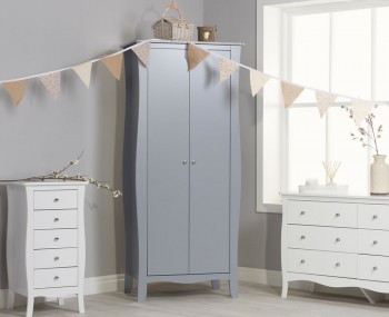Parise Grey 2 Door Wardrobe