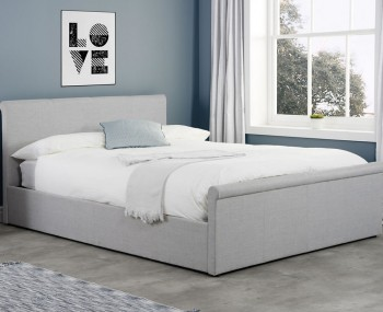 Holdings Grey Upholstered Ottoman Bed