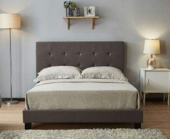 Newland Grey Upholstered Bed