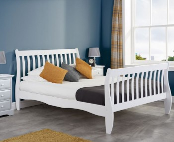 Wills White Wooden Bed