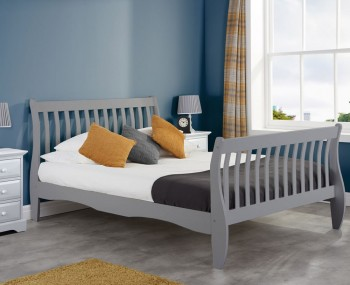 Wills Grey Wooden Bed