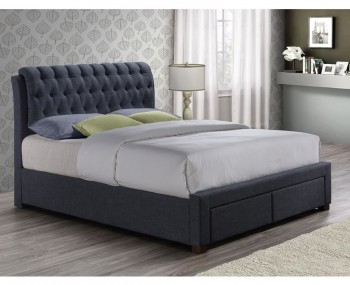 Apparel Charcoal Upholstered Storage Bed