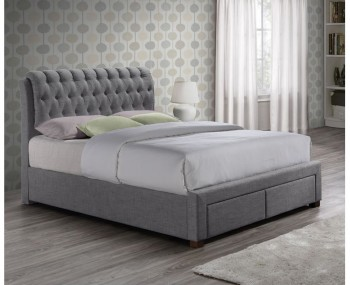 Apparel Grey Upholstered Storage Bed