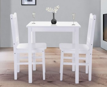 Bath White Wooden Dining Set