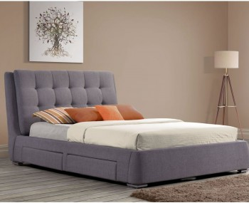 Soho Grey Upholstered Storage Bed