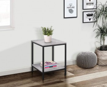 New York Grey Lamp Table
