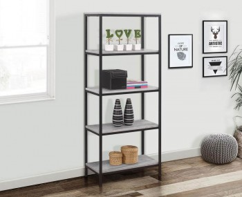 New York Grey 5 Tier Bookcase