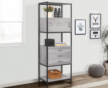 New York Grey 3 Drawer Shelving Unit