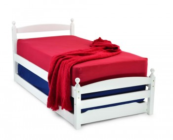Serio White Wooden Guest Bed