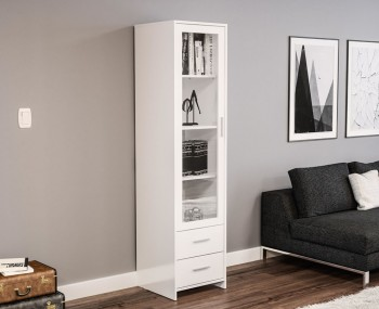 Nightingale White Glass Door Cabinet