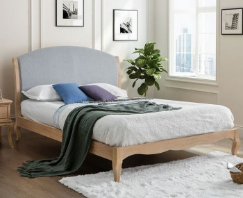 Lizzy Oak and Grey Bed Frame