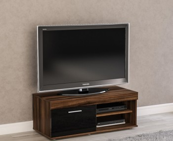 Nightingale Black and Walnut Small TV Unit