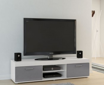 Nightingale White and Grey Large TV Unit