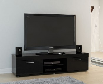 Nightingale Black Large TV Unit