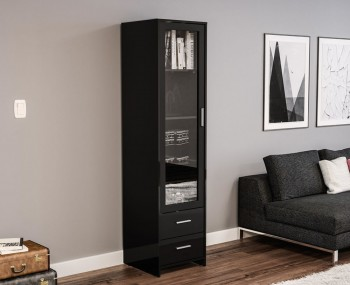 Nightingale Black Glass Door Cabinet