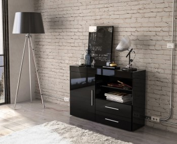 Nightingale Black Small Sideboard