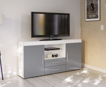 Nightingale White and Grey Large Sideboard