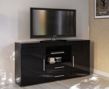 Nightingale Black Large Sideboard