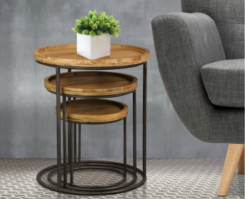 Beret Round Nest of Tables
