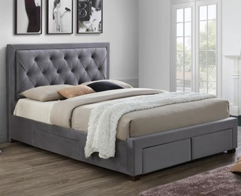 Parish Grey Upholstered Storage Bed Frame