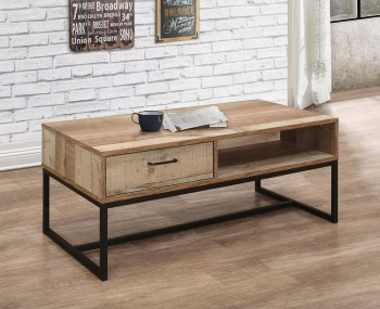 Ashvale Urban Wooden 1 Drawer Coffee Table