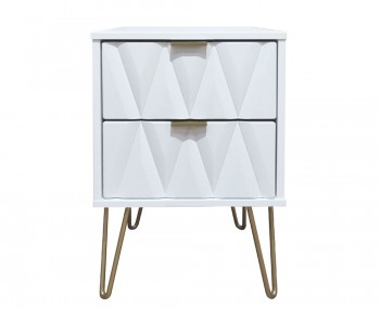 Marilyn Diamond 2 Drawer Bedside Chest