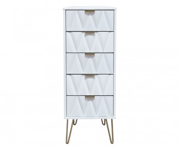 Marilyn Diamond 5 Drawer Narrow Chest