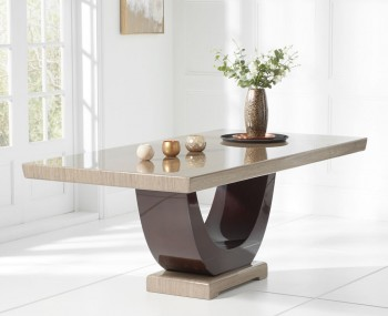 Roberto Brown Marble Dining Table