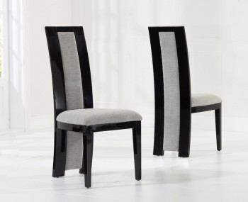 Marcio Grey Woven Upholstered Dining Chair