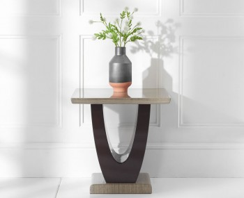 Roberto Brown Marble Lamp Table