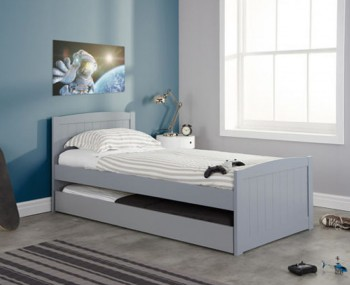 Barker Grey Wooden Guest Bed