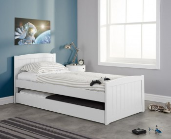 Barker White Wooden Guest Bed