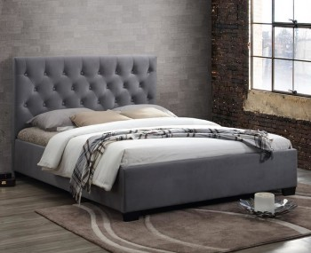Ludwig Grey Upholstered Bed