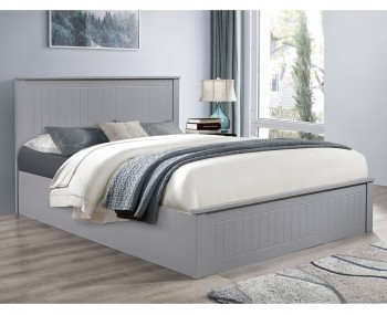 Tyme Grey Wooden Ottoman Bed