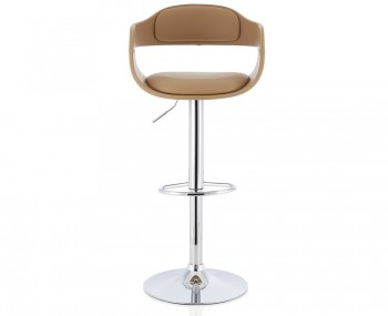 Cyprus Taupe Faux Leather Bar Stool