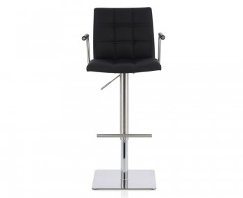 John Black Faux Leather Bar Stool