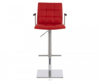John Red Faux Leather Bar Stool
