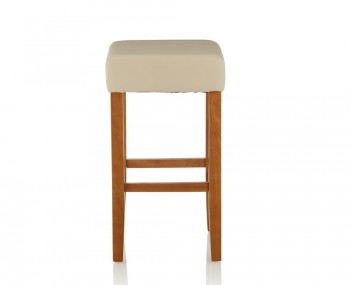 Liam Cream Faux Leather Bar Stools