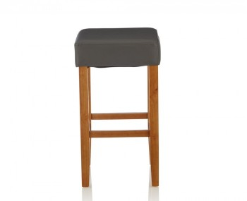 Liam Grey Faux Leather Bar Stools