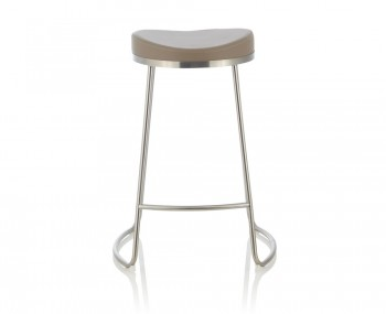 Marcus Taupe Faux Leather Bar Stools