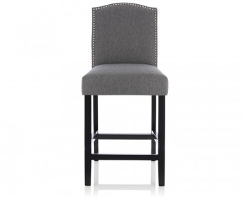 Larix Grey Fabric Bar Chairs