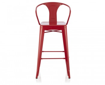 Tyne Red Metal Bar Chairs