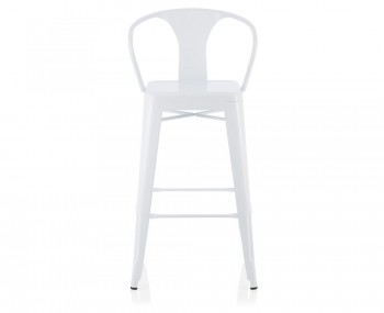 Tyne White Metal Bar Chairs
